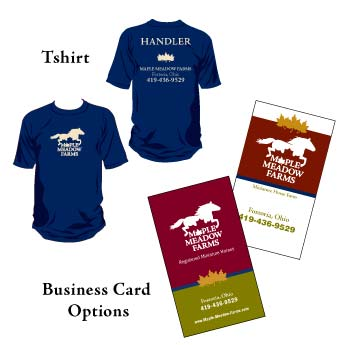 Maple Meadow Farms Shirts and Business Cards